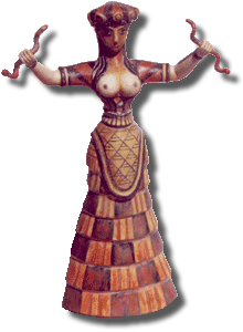 Cretan Snake Goddess - See listing for details - Click Image to Close