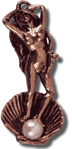 Aphrodite Pendant With Pearl - Bronze