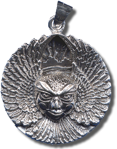 Ariel Bird Goddess Medallion - Silver