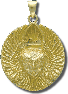 Ariel Bird Goddess Medallion - Gold