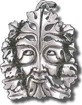 Bamburg Green Man Medallion - Silver