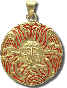 Belenos Celtic Sun God Medallion