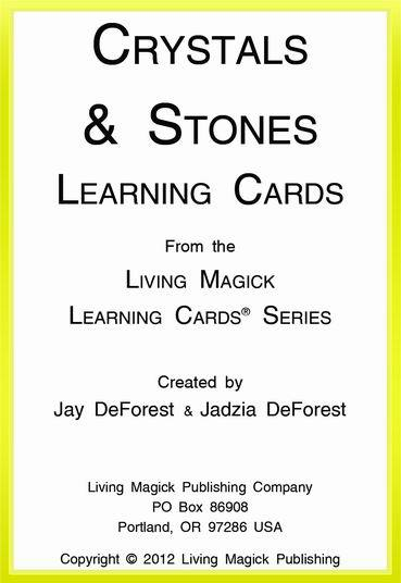 Crystals & Stones Learning Cards - Living Magick