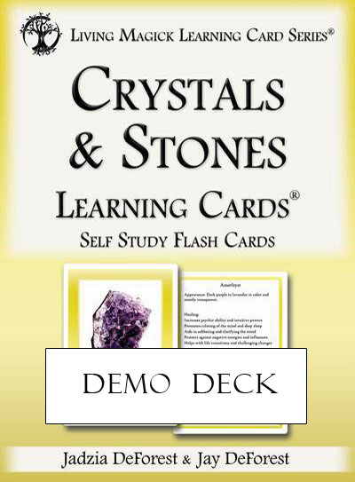 Demo Deck - Crystals & Stones Learning Cards
